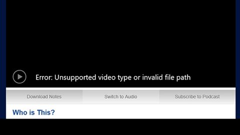 Unsupported video type or invalid file path