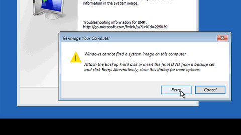 Windows Cannot Find a System Image on This Computer