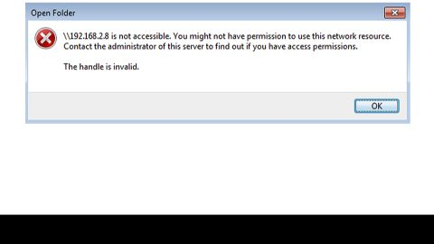 //server is not accessible, You might not have permission