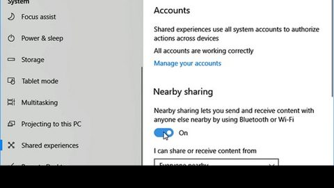 Nearby Sharing is not working in Windows