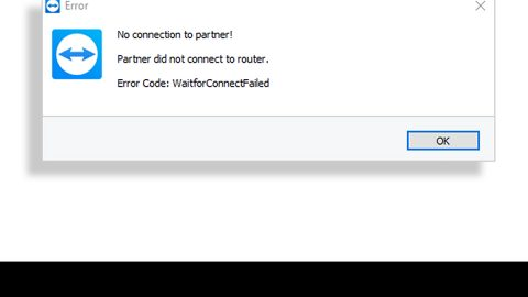 Partner did not connect to router Error