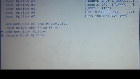 System doesn't have any USB boot option