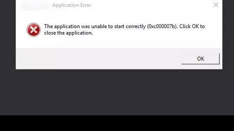 The application was unable to start 0xc00007b