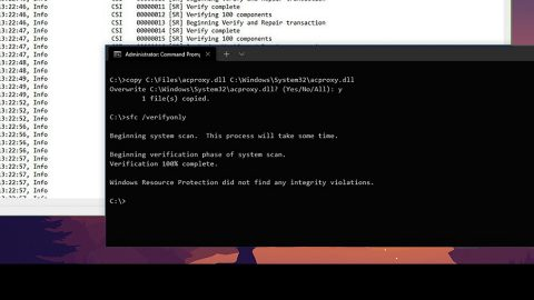 corrupted system files in Windows