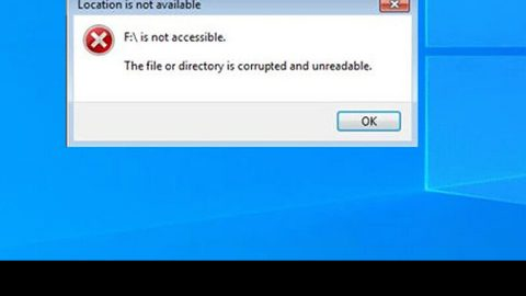 File or directory is corrupted and unreadable