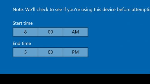 How to Use and Configure Active Hours
