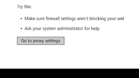 MS Edge Can't connect to the proxy server