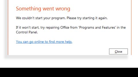 Something went wrong, We couldn't start your program