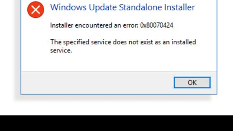 Specified service does not exist, 0x80070424