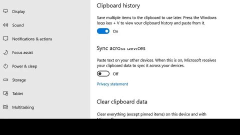 Turn On Off and Clear Windows Clipboard