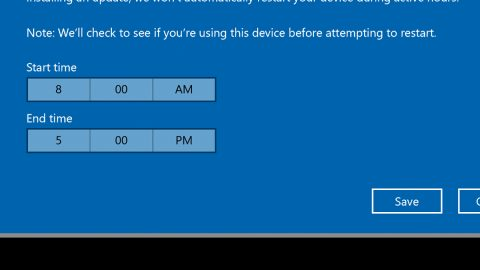 Automatically Adjust Active Hours in Windows