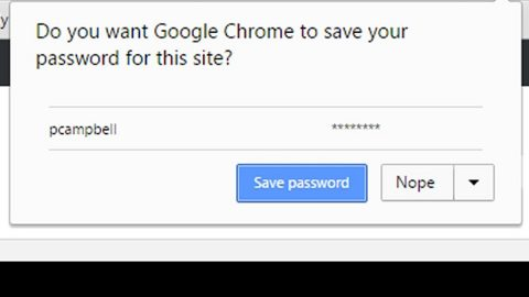 Chrome does not save passwords