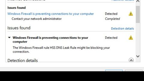 Firewall is preventing or blocking connections