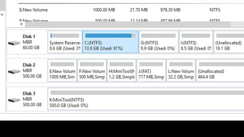 Hard drive shows wrong free space