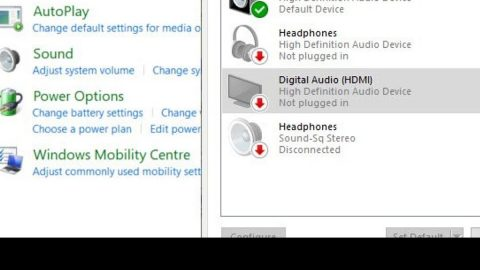 Headphones are not visible in playback devices