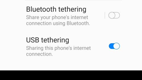 Setting up USB tethering in Windows