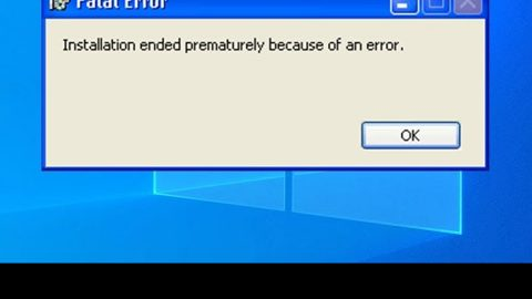 Installation failed, ended prematurely