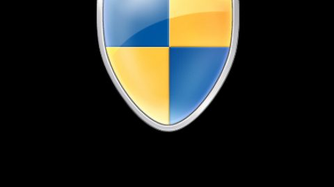 Remove the blue and yellow shield icon from an app