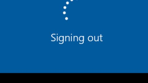 Windows is stuck on signing out screen