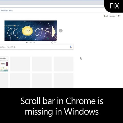 Scroll bar in Chrome is missing in Windows