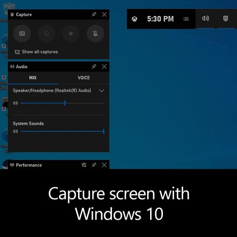 Capture screen with Windows 10