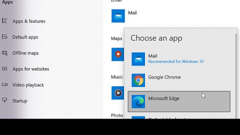 How to choose default applications in Windows