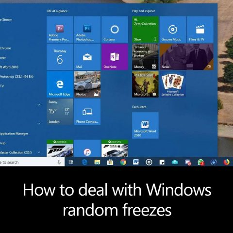 How to deal with Windows random freezes