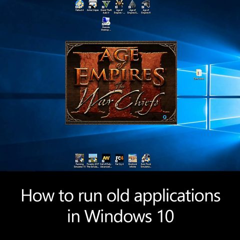 How to run old applications in Windows 10
