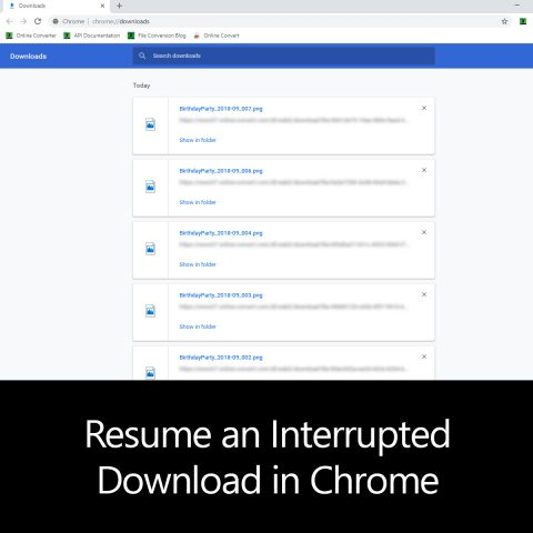 Resume an Interrupted Download in Chrome