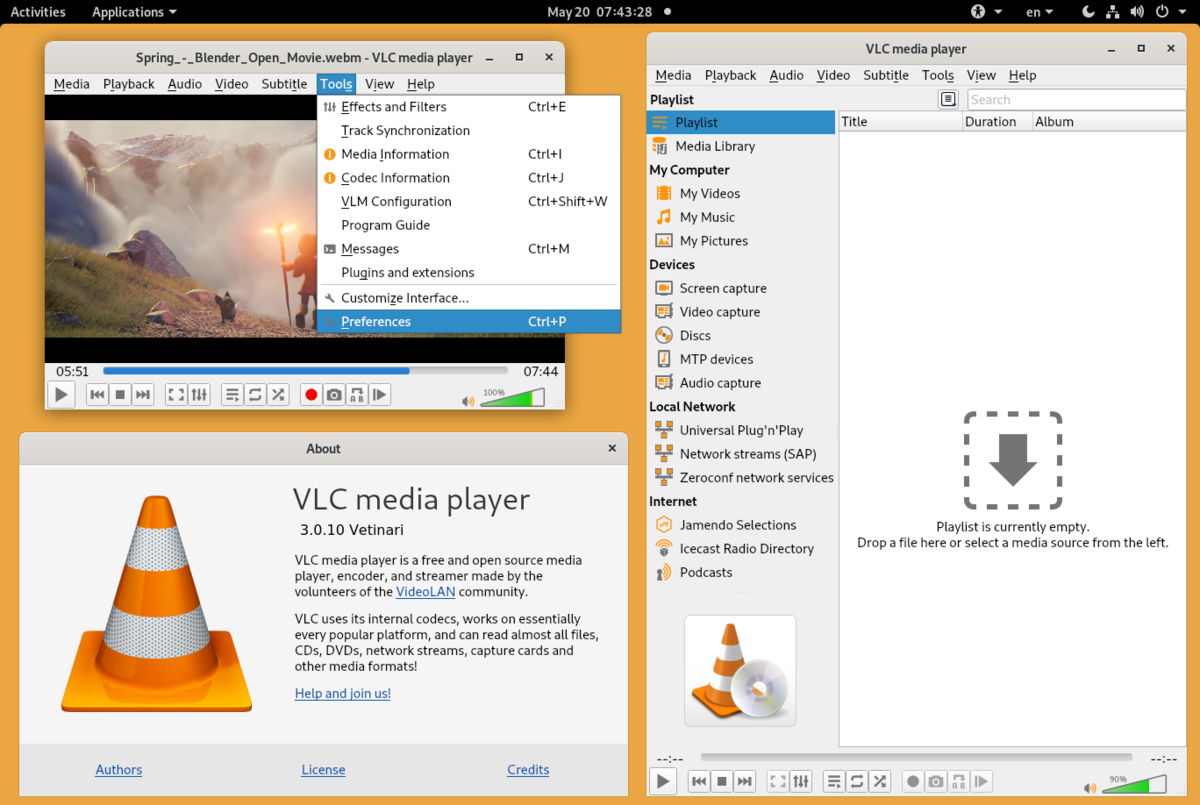 open source media player vlc