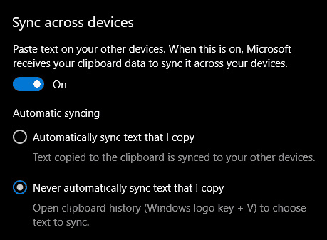 sync across devices