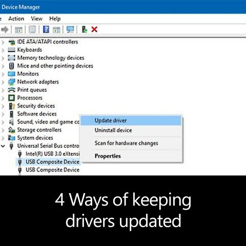 4 Ways of keeping drivers updated