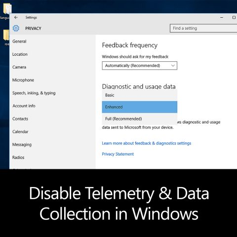 Disable Telemetry & Data Collection