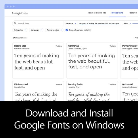 Download and Install Google Fonts on Windows
