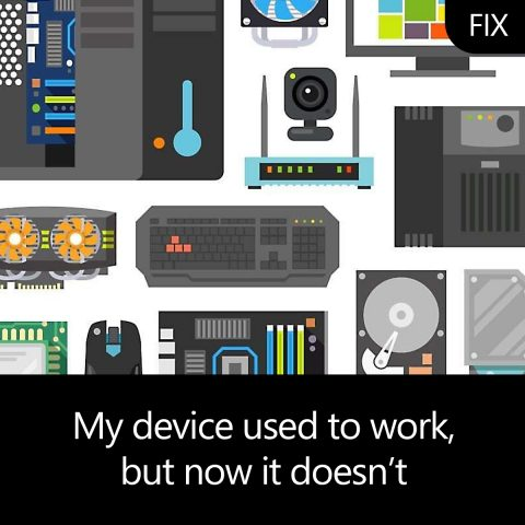 My device used to work, but now it doesn't