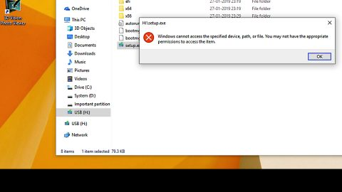 can not open EXE file in Windows 10