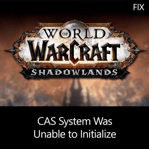 CAS System Was Unable to Initialize