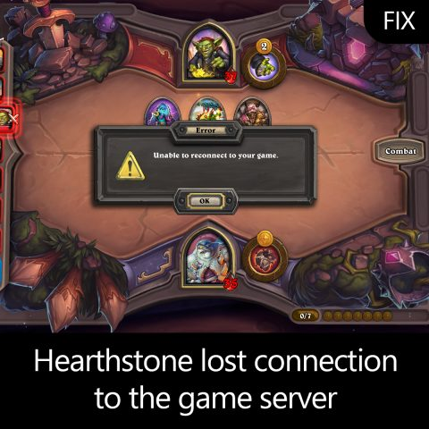 Hearthstone lost connection to the game server