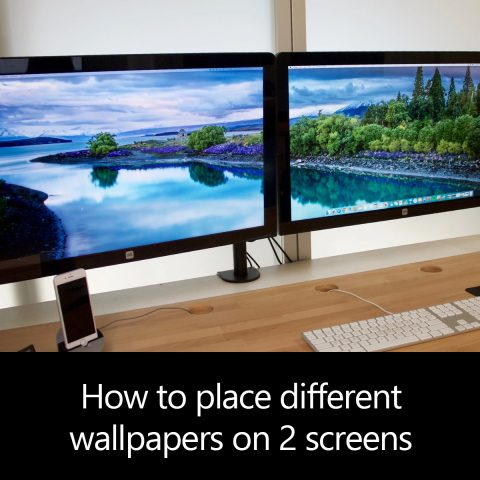 How to place different wallpapers on 2 screens