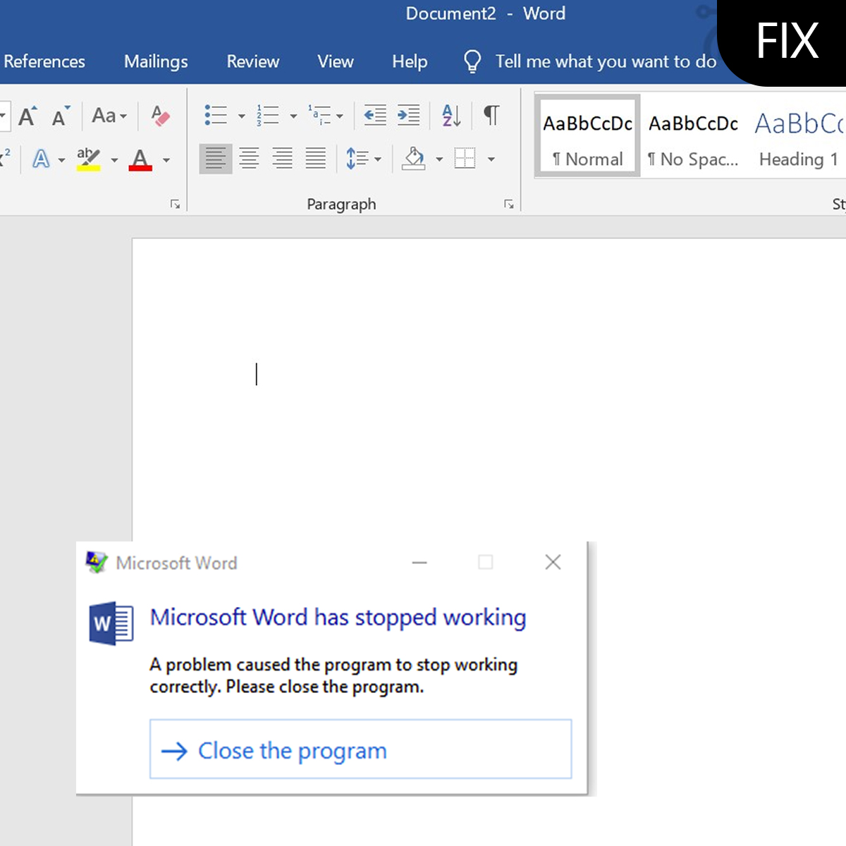 Microsoft Word Stopped Working